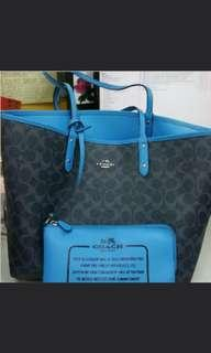 Coach Double-sided bag (Blue or Dark Grey)