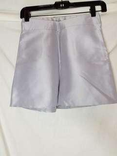 Aranka metallic high waisted shorts