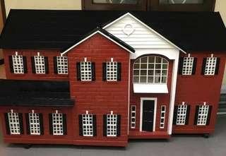 BIG SIZE doll house wooden rumah barbie custom rak buku book shelf