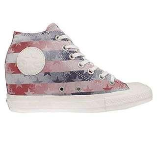 Converse Women's Chuck Taylor All Star Lux BLUE RED WHITE Blue red white