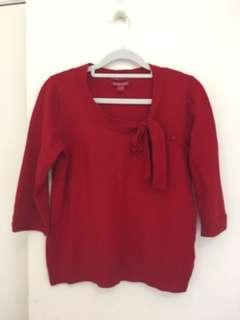 Merino blend blouse