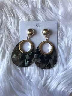 Black statement earring