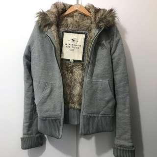 Authentic A&F warm fur jacket hoodie size S