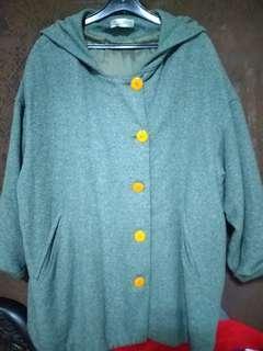 🚚 #半價衣服市集.連帽毛料造型大衣
