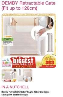 BNIB DEMBY Retractable Gate (Fit up to 120cm)