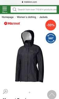 Marmot women's precip jacket new with tag