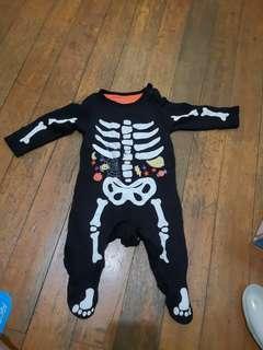 Mothercare halloween skeleton bodysuit
