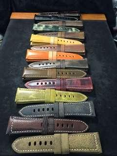 🚚 26/22mm Huge Variety of Unique Calf Leather Straps for Panerai 45/47mm Radiomirs 47mm Luminor / Submersible Models