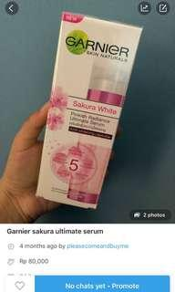 Garnier Sakura White serum , serum Garnier