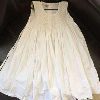 Jolly cotton white dress