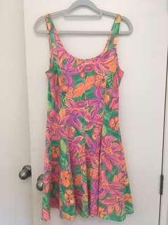 80s beach dress