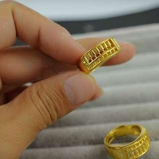 Adjustable Abacus Vietnam Gold Plated Ring - 算盘