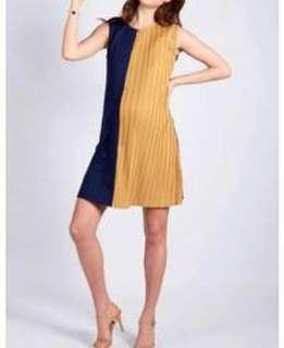 Jump Eat Cry Two tone colour block dress