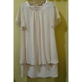 EVER WIND Beige Loose Dress | Free Size | Length-87