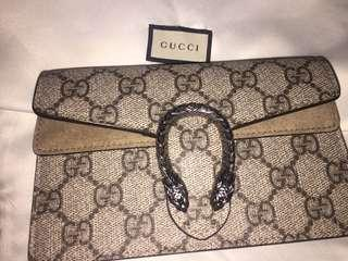 GUCCI GG Supreme Super Mini Dionysus Shoulder Bag in Beige