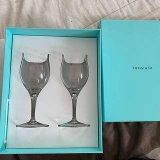 Tiffany and co wine glass pair