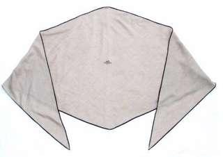 Hermès Diamond shaped Cashmere Silk Men's Beige Brown GM Wrap Losange Scarf