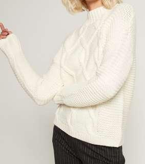 Gap Textured Cable-knit Mock Neck Sweater