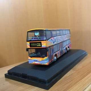 新巴巴士1:76 限量2888 GIVE ME FIVE 模型  NWFB New World First Bus Model Dennis Trident SLF 12M 1001 啟行版 亞歷山大 亞記 三叉戟 [720線香港島中環特快巴士路線]