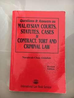 Q&A On Malaysian Courts, Statutes and Cases by Nuraisyah Chua
