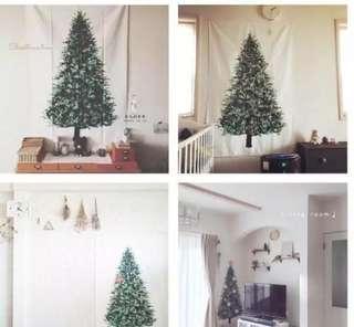 聖誕樹 背景掛布