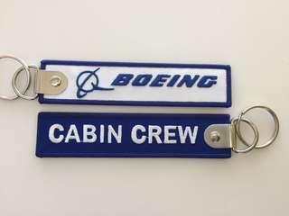 🚚 Boeing cabin crew keychain