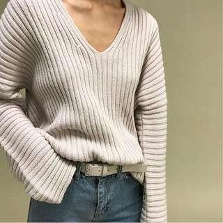 Oak and Fort Soft Pink Sweater