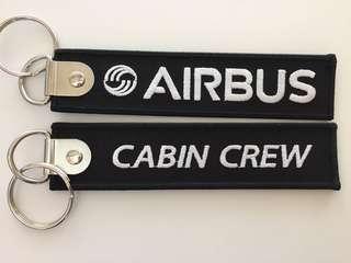 Airbus cabin crew keychain