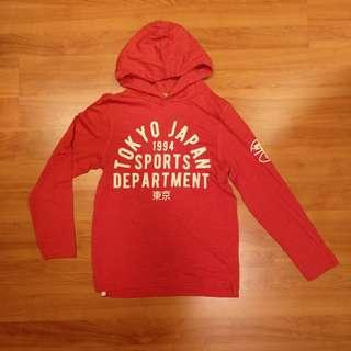 🚚 Pre-loved H&M Long Sleeve T-Shirt with Hoodie for boys - 8-10Y