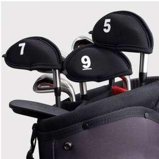 GOLF COVERS PROTECT SET OF 9 BLACK
