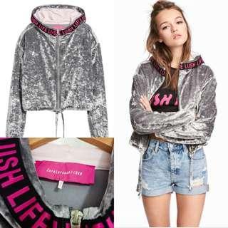 H&M Zara Larsson Velvet jacket