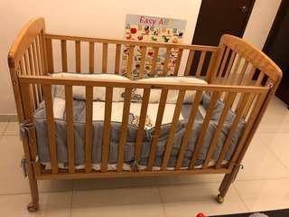 Beblum baby cot set with mattress