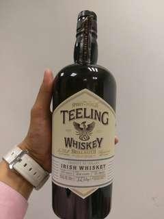 Empty whisky bottles