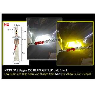 LED HEAD LIGHT 2 IN 1 (WHITE/YELLOW) H4,H7 & H11