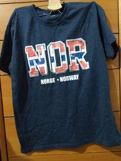 🚚 挪威旅遊紀念品男t shirt m號