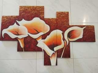 Canvas Painting 5pcs flower art