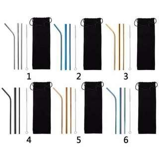 5pcs stainless straw