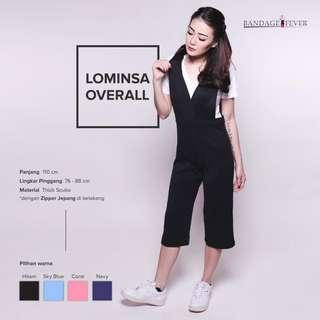 overall jumper black cullotes 7/8