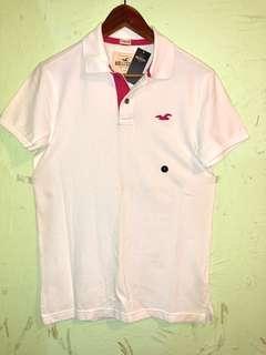 美國🇺🇸帶回 Hollister 全新S號 白色polo shirt