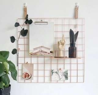 Photo Wall Grid in Rose Gold (Instock)