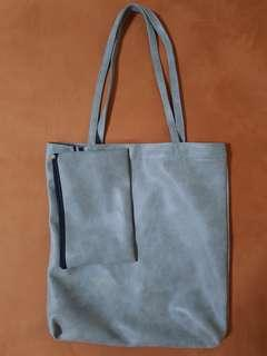 Ash Grey Tote Bag with Pouch