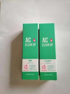 New Etude AC Clean Up Toner or Gel Lotion (expiry yr21)