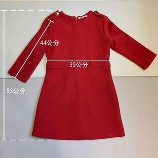 正紅色洋裝