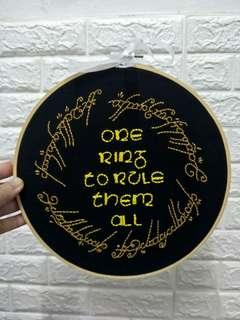 LOTR Lord of The Ring frame poster embroidery collectible