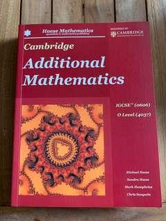 Cambridge IGCSE O Level Additional Mathematics (0606) & (4037) Haese Mathematics