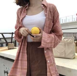 Instock Pink Plaid Outerwear