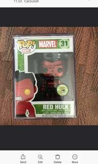 Funko Pop Metallic Red Incredible Hulk vinyl Figurine