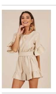 Beige playsuit Hello Molly