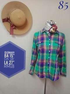 Oldnavy flannel blouse