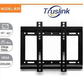 B25 Universal TV Wall Mount Bracket Holder Stand MAX Load 25KG For 14''~42'' LED LCD Monitor Flat Panel TV Mount